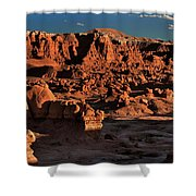 Panorama Of Hoodoos At Sunset Goblin Valley State Park Utah Shower Curtain