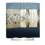 Panorama Of Iceberg Ross Sea Antarctica Shower Curtain