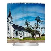 Panorama Of Sts. Cyril And Methodius Catholic Church - Dubina Texas Shower Curtain