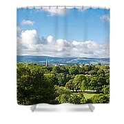 Panorama Of Phoenix Park And Wicklow Mountains Shower Curtain