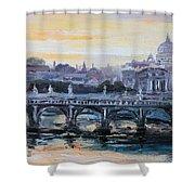 Panorama Of Rome Shower Curtain