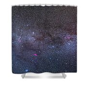 Panorama Of The Northern Milky Way Shower Curtain