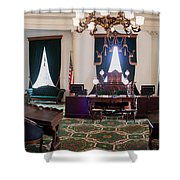 Panorama Of The Vermont State House Montpelier Vermont Shower Curtain