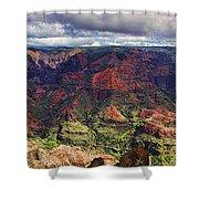 Panorama Of Waimea Canyon Hawaii Shower Curtain by David Smith