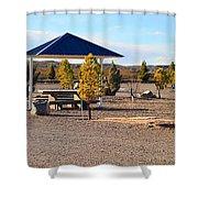 Panorama Outdoor Community Area Shower Curtain