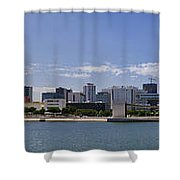 Panorama Over Lisbon Oceanarium Shower Curtain