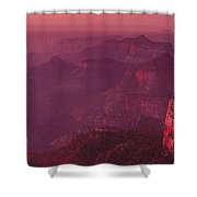 Panorama Pre-dawn At Point Imperial Grand Canyon National Park Shower Curtain