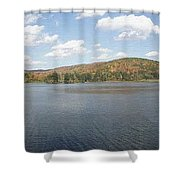 Panorama Red House Lake Allegany State Park Shower Curtain