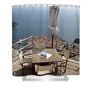 Panorama Restaurant Shower Curtain