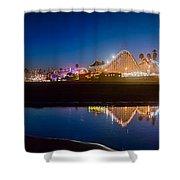 Panorama - Santa Cruz Boardwalk Shower Curtain