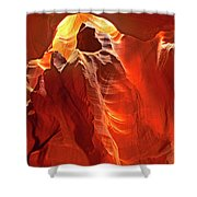 Panorama Slot Canyon Arizona Shower Curtain