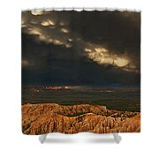 Panorama Storm Clouds Over Bryce Canyon National Park Utah Shower Curtain