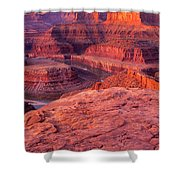 Panorama Sunrise At Dead Horse Point Utah Shower Curtain