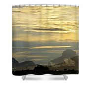 Panorama Sunset Aparaman And Towyen Tepuis Kavak Venezuela Shower Curtain
