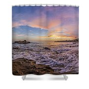 Panorama The Whole Way Round The Cove Shower Curtain