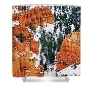 Panorama Winter Storm Blankets Thors Hammer And Bryce Canyon Shower Curtain