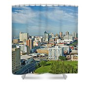Panoramic Aerial View Of Durban, South Shower Curtain