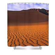 Panoramic Mesquite Sand Dune Patterns Death Valley National Park Shower Curtain