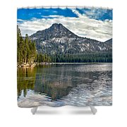 Panoramic Of Anthony Lake Shower Curtain