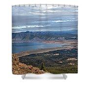 Panoramic Of Henry's Lake Shower Curtain