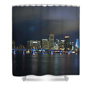 Panoramic Of Miami Florida Shower Curtain