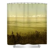 Panoramic Of Sailing Ship, Beacon Hill Shower Curtain