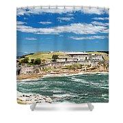 Panoramic Photo Of Bare Island Bridge Shower Curtain