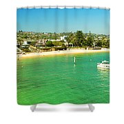 Panoramic Photo Of Camp Cove At Watsons Bay Shower Curtain