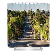 Panoramic Photo Of Katoomba Street Shower Curtain