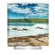 Panoramic Photo Of La Perouse Shower Curtain