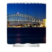 Panoramic Photo Of Sydney Night Scenery Shower Curtain