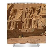 Panoramic Photograph Of Famous Egyptian Monument Shower Curtain