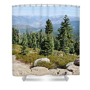 Panoramic Point Shower Curtain