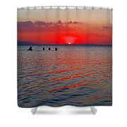 Panoramic Summer Sunset Shower Curtain