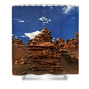 Panoramic Sunset Light On Sandstone Formations Fantasy Canyon  Shower Curtain