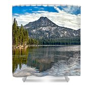 Panoramic View Of Anthony Lake Shower Curtain