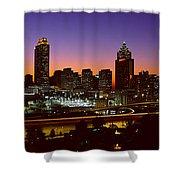Panoramic View Of Atlanta Skyline Shower Curtain