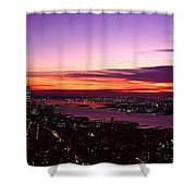 Panoramic View Of Empire State Shower Curtain