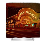 Panoramic View Of Golden Nugget Casino Shower Curtain