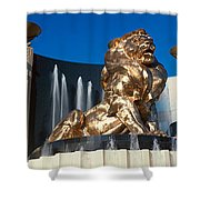 Panoramic View Of Mgm Lion And Mgm Shower Curtain