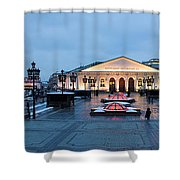 Panoramic View Of Moscow Manege Square And And Central Exhibition Hall - Featured 3 Shower Curtain