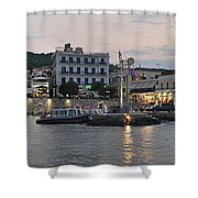 Panoramic View Of Spetses Town Shower Curtain