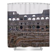 Panoramic View Of The Colosseum Shower Curtain