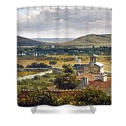 Panoramic View Of The Ile-de-france Shower Curtain