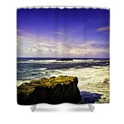 Panoramic View Of The Pacific Ocean Shower Curtain