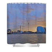Panoramic View Of The Shard, City Hall Shower Curtain