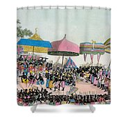 Panoramic View Of The Yam Custom Shower Curtain