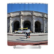 panoramic View of Union station in Washington DC Shower Curtain