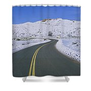 Panoramic View Of Winter Snow Shower Curtain