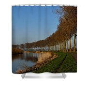 Panoramic View On Pottes - Belgium Shower Curtain